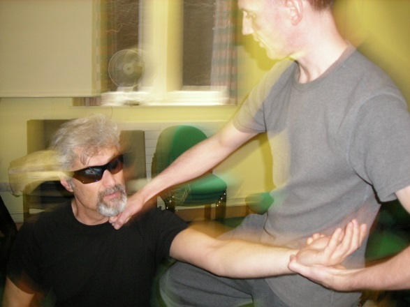 One Touch Project  Pic of Veteran doing self defense while in the program training
